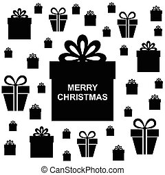 Christmas box gifts background - Vector illustrations of...