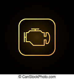 Check engine yellow icon