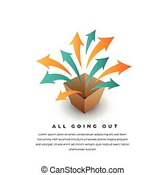 All Going Out - Vector conceptual illustration of several...
