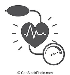 Blood Pressure Icon - Blood pressure concept with blood...