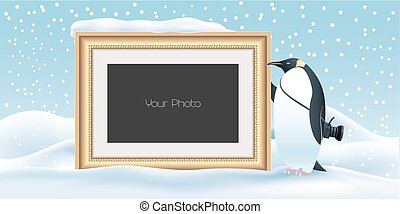 Scrapbook with New Year, Christmas or winter background vector illustration
