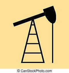 flat icon on stylish background gas production