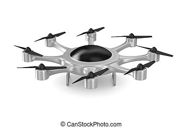 drone on white background. Isolated 3d illustration