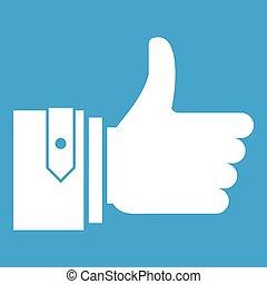 Thumbs up icon white
