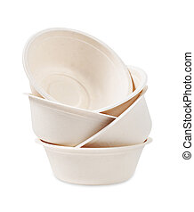 Bagasse for container food, bowl or cup.