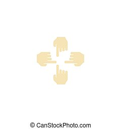 Flat Icon Multitouch Element. Vector Illustration Of Flat...