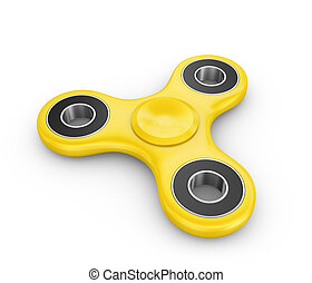 Spinner of yellow color