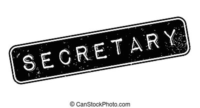 Secretary rubber stamp. Grunge design with dust scratches....