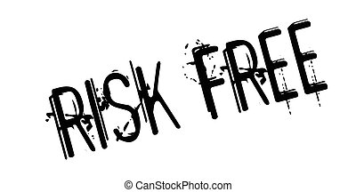 Risk Free rubber stamp. Grunge design with dust scratches....