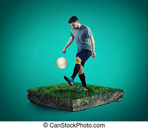 Playing with soccer ball