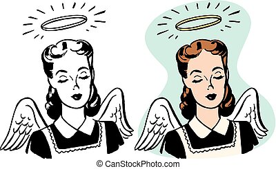 Angelic Woman - An angelic looking woman with wings and a...