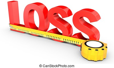 Measuring Loss word with tape measure
