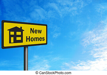 'New Homes' photo realistic sign, with space for your text
