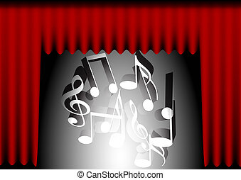 Music Background - Red Curtain