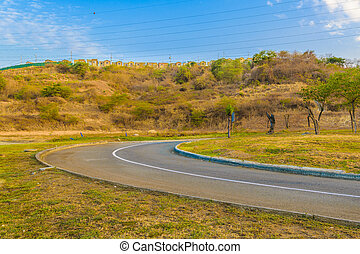 Empty Avenue at Guayaquil Outskirts - Empty avenue at...