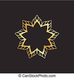 Luxury Gold flower logo plant image