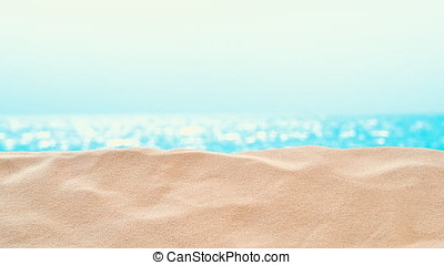 On the Beach / By the Sea - sand dune in front of beautiful azure sea on a sunny day - seamless loop - ProRes