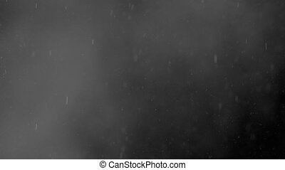 Tiny Particles of Water Vapour on Black Background - Tiny...