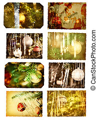 christmas postcards - vintage postcards with christmas trees...