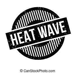 Heat Wave rubber stamp. Grunge design with dust scratches....