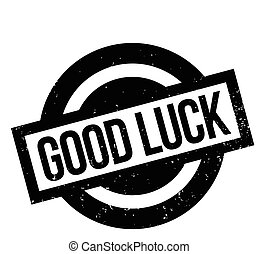 Good Luck rubber stamp. Grunge design with dust scratches....