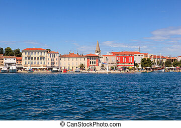 Porec skyline and sea - View of Porec skyline and sea ,...