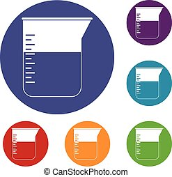 Measuring cup icons set