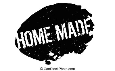 Home Made rubber stamp. Grunge design with dust scratches....