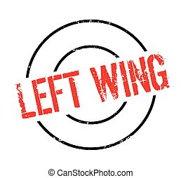 Left Wing rubber stamp. Grunge design with dust scratches....