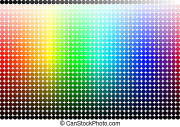 Color pallete spectrum made from circles
