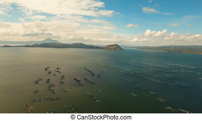 Taal Volcano, Tagaytay, Philippines. - Aerial view Taal...