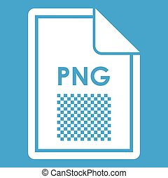 File PNG icon white isolated on blue background vector...