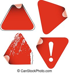 Triangle labels badges stickers