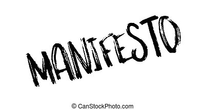 Manifesto rubber stamp. Grunge design with dust scratches....