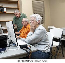 Computer Class for Seniors - Class Room of a computer class...