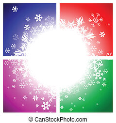 Abstract background - snowflakes