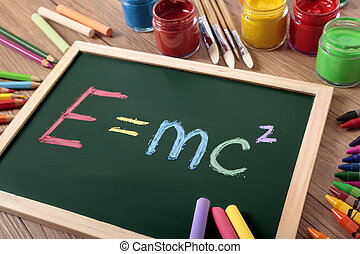 E=mc2 - Einstein's famous E=MC2 formula written in color...