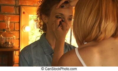 make-up makes makeup cute girl - make-up makes makeup young...