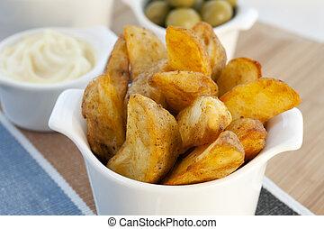 Spanish Tapas, Patatas Bravas - Spanish tapas, patatas...