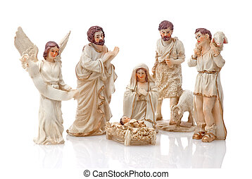 Christmas Crib isolated on white background