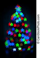 encendido, árbol, navidad