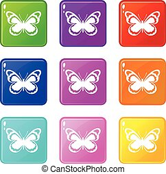 Small butterfly set 9