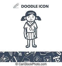 gril doodle