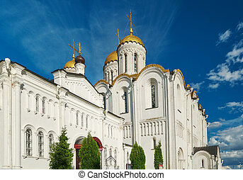 Assumption cathedral. Vladimir, Golden ring of Russia. June...