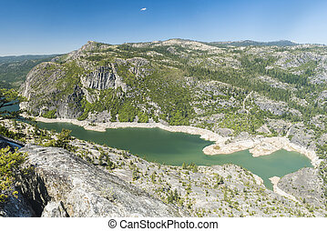 Donnell Lake - Panoramic photo of a Donnell Lake. Lake and a...
