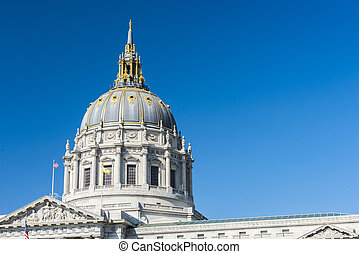 San Francisco city hall - Detail of San Francisco city hall...