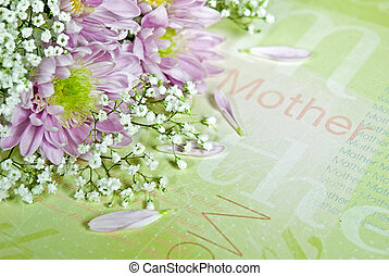 Mother - Soft lavendar daisies on decorative paper.