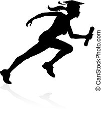 Graduate Runner Education Concept - An education concept of...