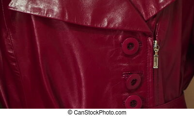 Red leather coat - Beautiful and fashionable leather red...