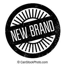 New Brand rubber stamp. Grunge design with dust scratches....